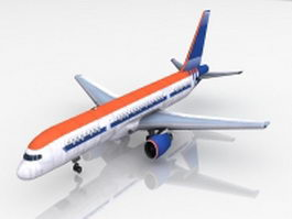 Airplane passenger plane 3d preview