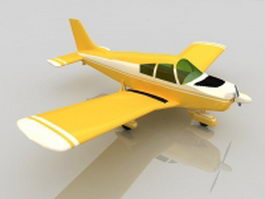 Piper Cherokee airplane 3d model preview