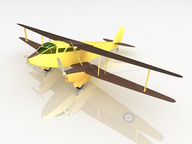 Dragon rapide aircraft 3d rendering