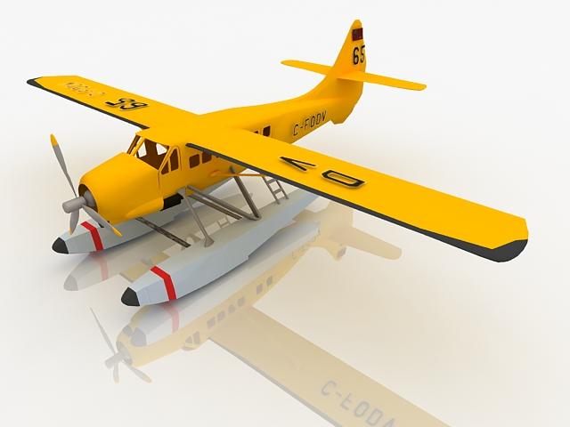 De Havilland Otter aircraft 3d rendering