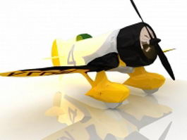Gee Bee aircraft 3d model preview