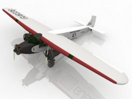 Ford 5-AT Trimotor airplane 3d preview