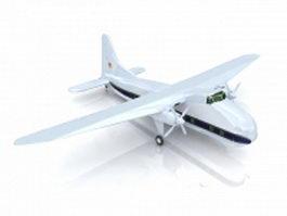 Bristol Superfreighter transport aircraft 3d preview