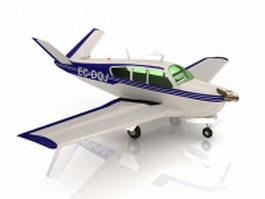 Beechcraft Bonanza airplane 3d preview