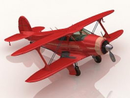Beechcraft staggerwing airplane 3d preview