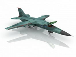 F-111 Aardvark Attack aircraft 3d preview