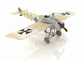 Fokker Eindecker fighter 3d preview