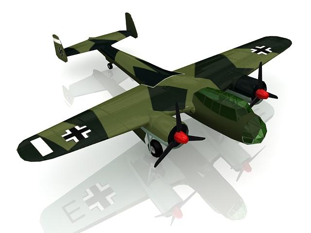 German Dornier Do 17 bomber 3d rendering