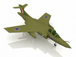 Blackburn Buccaneer strike aircraft 3d preview