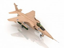 RAF Jaguar Attack aircraft 3d preview
