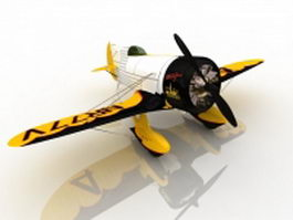 Gee Bee racer airplane 3d preview
