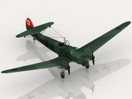 Fw 58 German aircraft 3d preview
