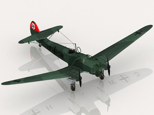 Fw 58 German aircraft 3d rendering