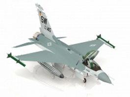 USAF F-16F jet fighter 3d model preview