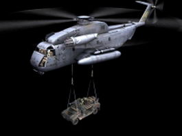 CH-53E helicopter 3d model preview