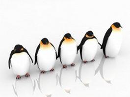 Emperor penguins 3d model preview