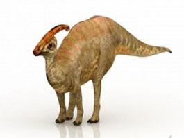 Cretaceous dinosaur 3d model preview