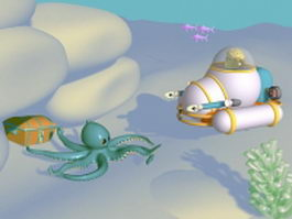 Underwater discovery 3d model preview