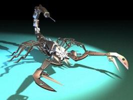 Mechanical scorpion 3d model preview