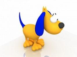 Cartoon dog 3d model preview