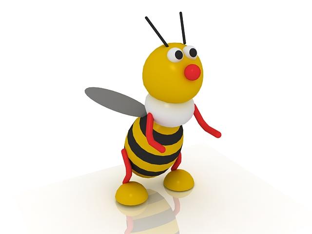 Cartoon bee 3d rendering