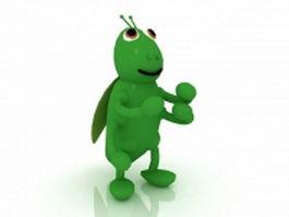 Cartoon beetle bug 3d model preview