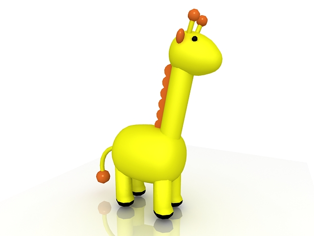 Cartoon giraffe 3d rendering