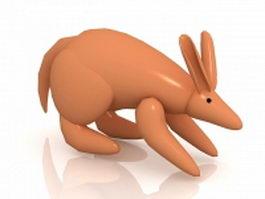 Cartoon kangaroo 3d preview