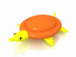 Cartoon tortoise 3d model preview