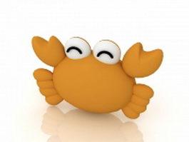 Funny cartoon crab 3d preview