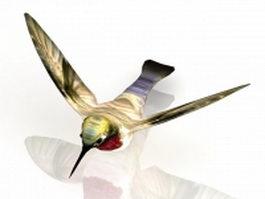 Flying hummingbird 3d preview