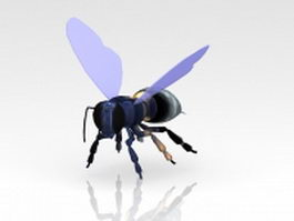 Flying bee 3d model preview