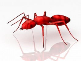 Red ant 3d model preview