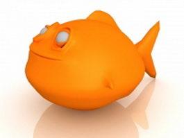 Monster fish 3d model preview