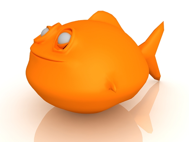 Monster fish 3d rendering