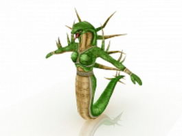 Humanoid snake female 3d preview