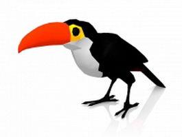 Cartoon bird crow 3d preview