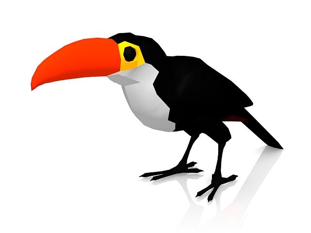 Cartoon bird crow 3d rendering