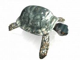 Sea turtle 3d preview