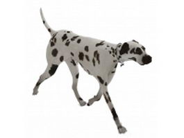 Spotted dog 3d model preview