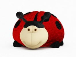 Ladybug toy stuffed animal 3d preview