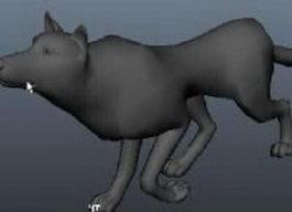 Aardwolf animal 3d model preview
