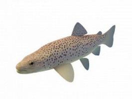 Big brown trout 3d model preview