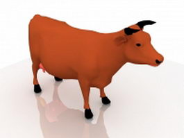 Dairy cow 3d preview