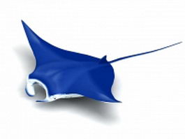 Manta ray 3d model preview