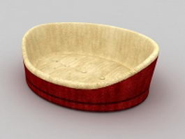 Red cat bed 3d preview