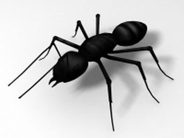 Black garden ant 3d model preview