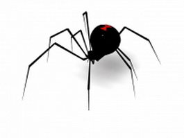 Black Widow Spider 3d model preview