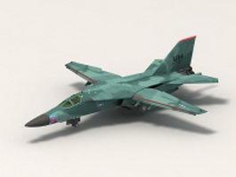 F-111 aircraft 3d model preview