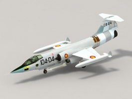 Lockheed F-104 Starfighter 3d model preview